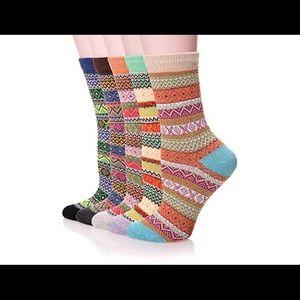Colorful Warm Crew Socks Set of 2